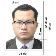 2 фотографии 3,5×4,5см
