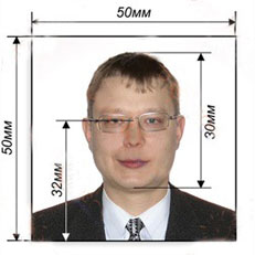 Фото на визу 5 х 5